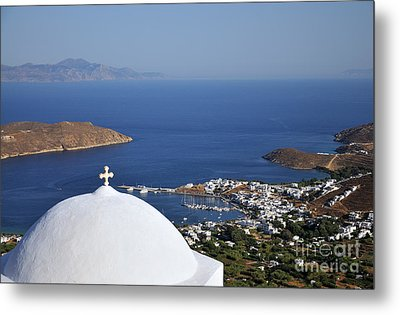 View Of Livadi Port Metal Print