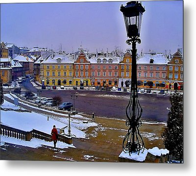 View Of Lublin Castle Steps  Metal Print by Rick Todaro