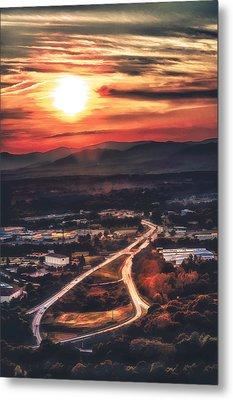 View Of Lynchburg Metal Print by Joshua Minso