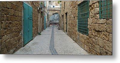 View Of Narrow Alley, Acre Akko, Israel Metal Print
