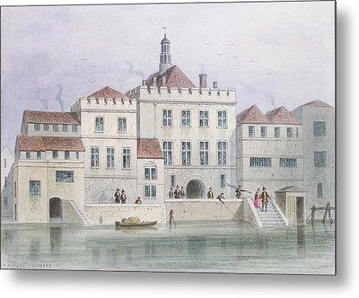 View Of Old Fishmongers Hall, 1650 Wc On Paper Metal Print by Thomas Hosmer Shepherd