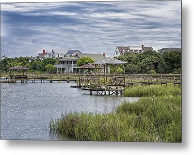 View Of Pawleys From The Creek Metal Print by Sandra Anderson
