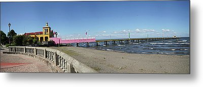 View Of Pier On Beach, Lake Nicaragua Metal Print by Panoramic Images