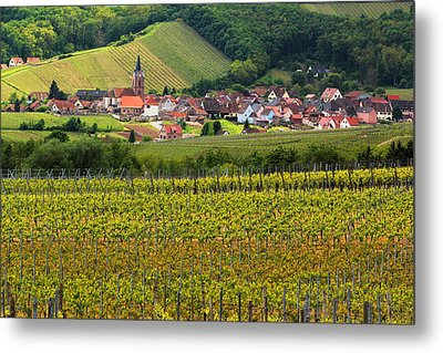 View Of Rodern From The Vineyards Of Alsace Metal Print