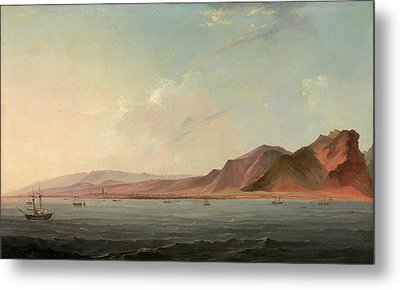 View Of Santa Cruz, Tenerife Signed And Dated Metal Print by Litz Collection