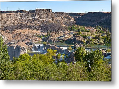 View Of Shoshone Falls In Twin Falls Metal Print by Panoramic Images