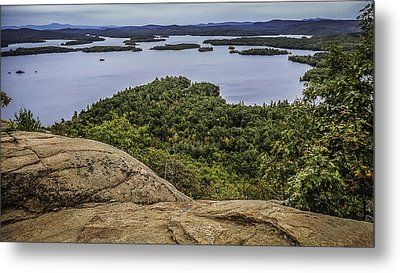 View Of Squam Lake From Rattlesnake Mountain Metal Print by Karen Stephenson