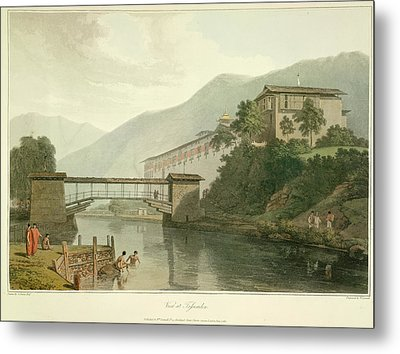 View Of Tassisudon Metal Print by British Library