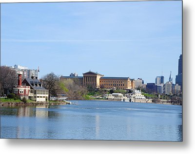 View Of The Art Museum And Waterworks In Philadelphia Metal Print by Bill Cannon