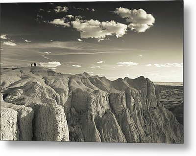 View Of The Badlands National Park Metal Print by Panoramic Images