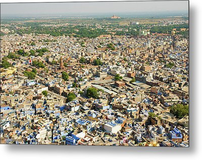 View Of The Blue City Of Jodhpur Metal Print by Inger Hogstrom