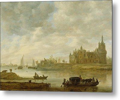 View Of The Castle Of Wijk At Duurstede Metal Print by Jan van Goyen