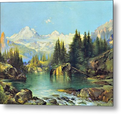 View Of The Rocky Mountains Metal Print
