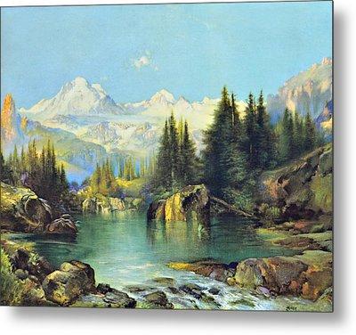 View Of The Rocky Mountains Metal Print by Susan Leggett