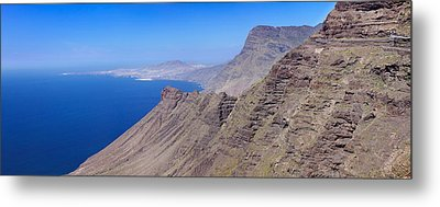 View Of The Steep Coast, Anden Verde Metal Print by Panoramic Images