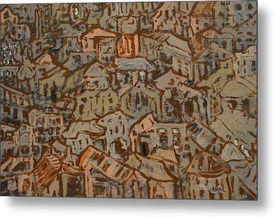 View Of The Town Metal Print by Oscar Penalber