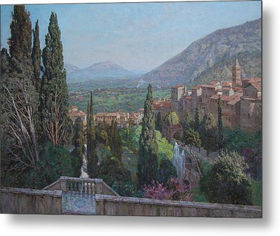 View Of Tivoli From The Terrace Of Villa D'este Metal Print by Korobkin Anatoly