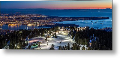 View Of Vancouver City From Grouse Mountain Metal Print
