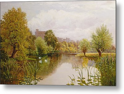 View Of Windsor From The Thames Metal Print