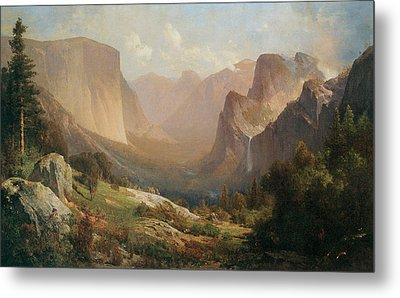 View Of Yosemite Valley Metal Print by Thomas Hill