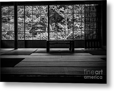 View On And Old Temple Garden Metal Print by Dean Harte