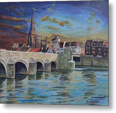 View On Wyck East Bank Maastricht Metal Print
