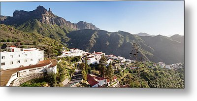 View Over Tejeda To Roque Nublo, Gran Metal Print by Panoramic Images