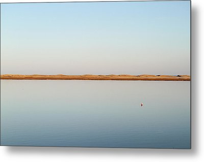 View Over Tranquil Waters Towards Dunes Metal Print by Susan Pease