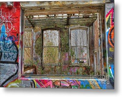 View Through A Window Metal Print by David Birchall