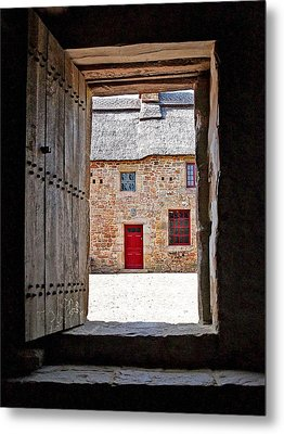 View Through The Old Door Metal Print