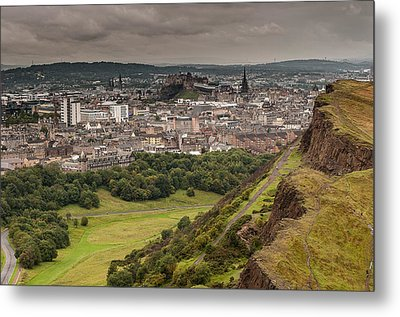 Metal Print featuring the photograph View To Edinburgh by Sergey Simanovsky