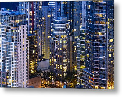 View Towards Coal Harbor Vancouver Mdxxvii  Metal Print by Amyn Nasser