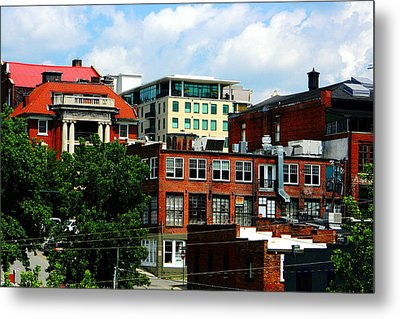 View Towards Lexington Avenue In Asheville Metal Print by Utopia Concepts