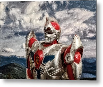 View Wth A Robot Metal Print by Jeff  Gettis