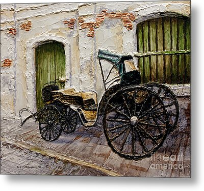 Metal Print featuring the painting Vigan Carriage 2 by Joey Agbayani