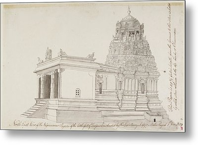 Vighnesvara Temple In Tanjore Metal Print by British Library