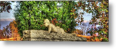 Vigilance - Gettysburg National Military Park - Late Afternoon Autumn Metal Print