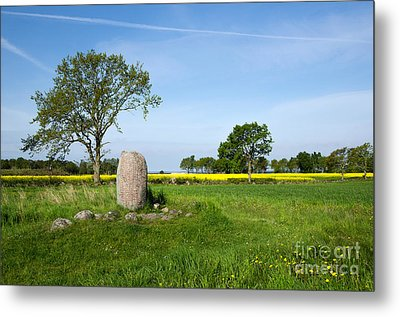 Metal Print featuring the photograph Viking Age Runic Stone by Kennerth and Birgitta Kullman