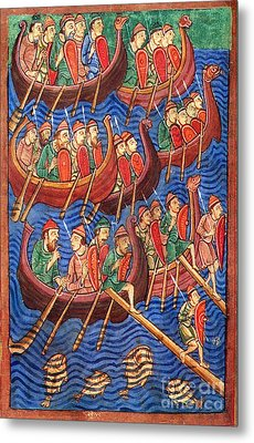Vikings Invade England 9th Century Metal Print by Photo Researchers