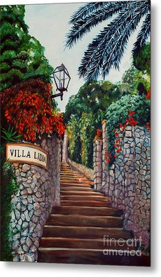 Villa Lidia Metal Print by Nancy Bradley