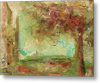 Metal Print featuring the painting Villa by Mary Wolf