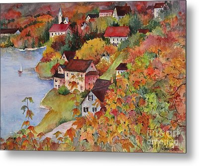 Village By The Sea Metal Print by Sherri Crabtree