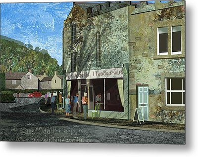 Village Cafe Metal Print by Kenneth North