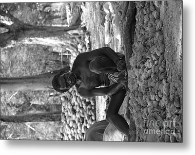 Village Farmer  Metal Print by Bobby Mandal