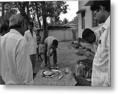 Village Fish Market Metal Print by Bobby Mandal