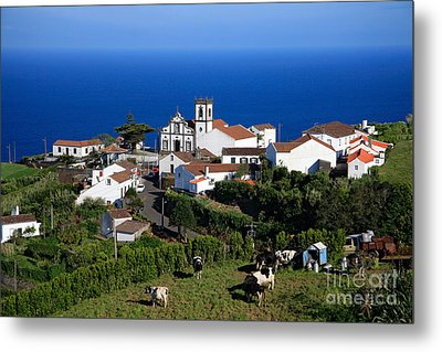 Village In Azores Islands Metal Print