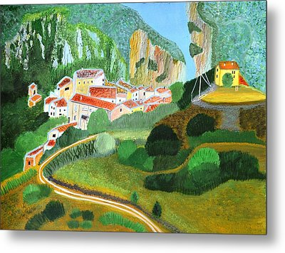 Village In The Mountains  Metal Print by Magdalena Frohnsdorff