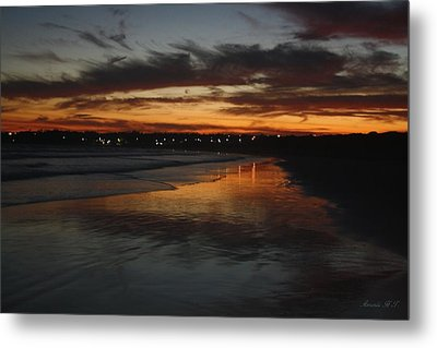 Metal Print featuring the photograph Village Lights At Sunset by Amanda Holmes Tzafrir