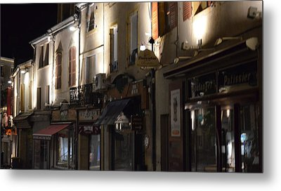 Village Nightscape Metal Print