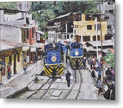 Village Of Aquas Calientes Metal Print by Dottie Branchreeves